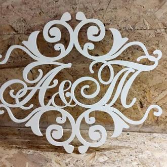 Инициалы-Декор свадебной фотозоны 50 см