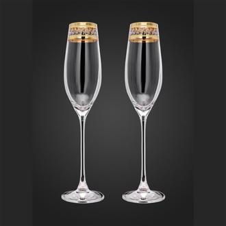Весільні келихи VIP платина-золото (арт. WG-105)