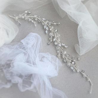 Весільна прикраса для волосся, гілочка в зачіску, ніжне прикраса у зачіску