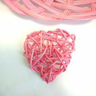 сердце из ротанга