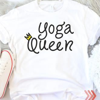 Женская футболка Yoga Queen