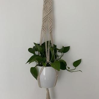Кашпо для цветов Подвес для ветов Плетенное кашпо для вазонов Подвесной вазон