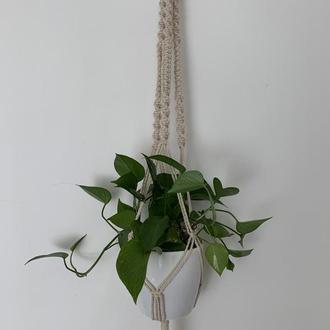 Кашпо для цветов Подвеска для растений Подвес для вазона с цветами Декор сада Подарок маме Бохо стил