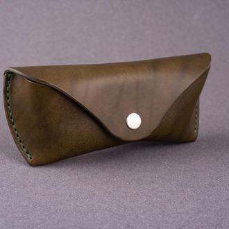 Кожаный футляр для очков в 2 размерах и 5 цветах кожи Crazy Horse 2_0044