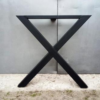 Ножки из металла Х форма для стола в стиле лофт индастриал loft