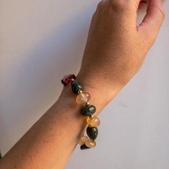 Браслет «Эсмеральда» из натуральных камней