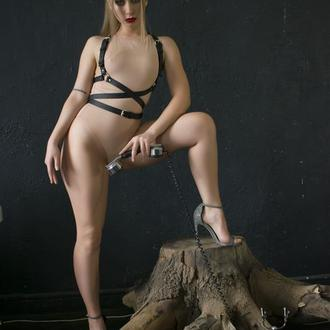 BDSM Портупея Belt - кожа.
