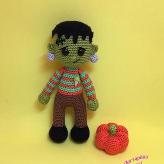 Кукла вязаная Франкенштейн