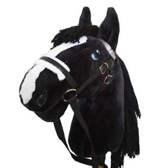 Черный конь на палке Лошадка на палочке Игрушечный конь Hobby Horse