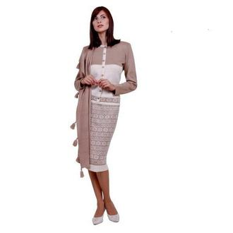 Авторское вязаное платье-миди