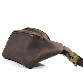 Сумка бананка кожаная, сумка на пояс TARWA RC-3012-3md