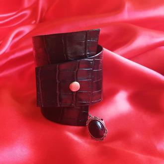 Браслет из натуральной кожи ручной роботы