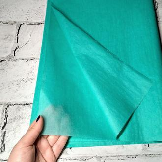 Бумага тишью 75х50 см, 10 листов, бирюзовая
