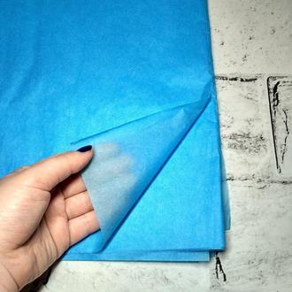 Бумага тишью 75х50 см, 10 листов, голубая
