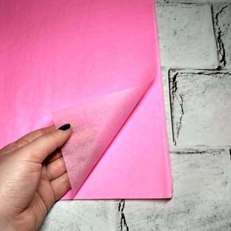 Бумага тишью 75х50 см, 10 листов, розовая