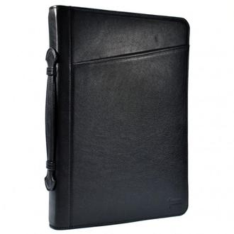 Папка черная кожаная с ручкой, для документов A4 GA-1404-4lx от TARWA