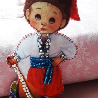 Кукла в национальном костюме, мальчик, Украина
