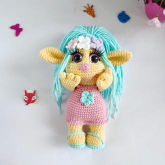 Игрушка Детская  вязанная Эльф девочка,  Эльфиечка Кроха