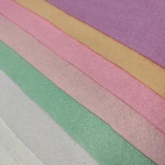 Набор фетра мягкого 1.4 мм, 6 шт пастельные цвета