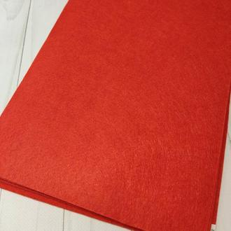 Фетр жесткий 1 мм красный
