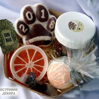 Новогодний подарочный набор натуральной косметики «Шоколад и мандарин»
