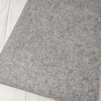 Фетр жесткий 1 мм серый меланжевый