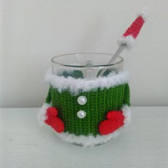 Новогодняя грелка для чашки