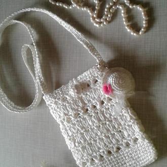 Стильная сумочка из рафии через плечо