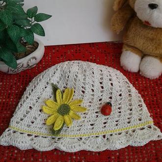 Детская летняя шапочка-панама из хлопка
