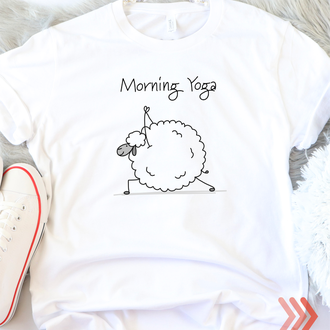Женская футболка Morning Yoga