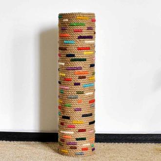 Висока 68см циліндрична підлогова ваза в стилі рустик