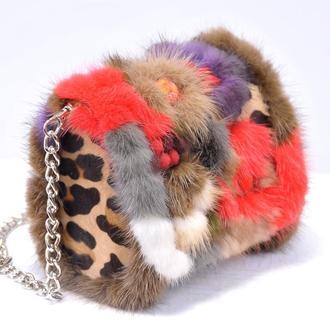 Меховая сумочка из коллекции «Мини»