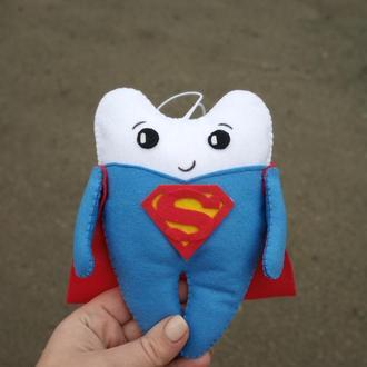 Фетровая игрушка зубик Супер мен