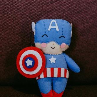 Фетровая игрушка Капитан Америка
