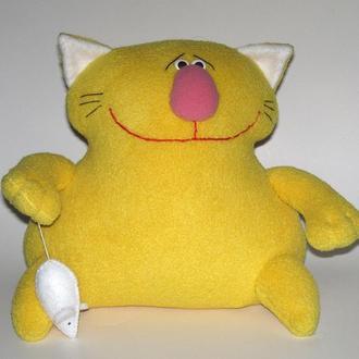 Авторская мягкая игрушка Кот с мышью