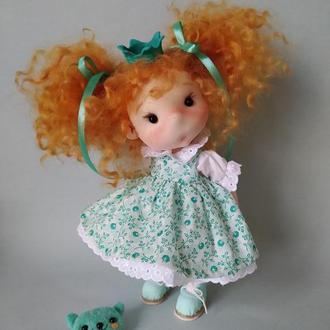 Кукла текстильная Рыжая принцесса