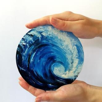 Картина маслом морская волна, Морская картина, Море картина маслом, Авторская живопись