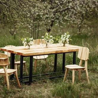 Большой обеденный стол из массива ясеня 210*110