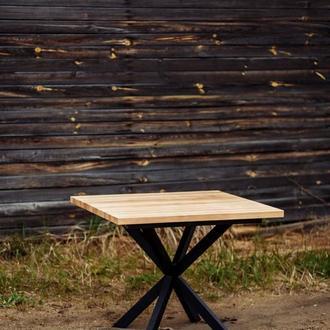 Раздвижной деревянный стол в скандинавском стиле