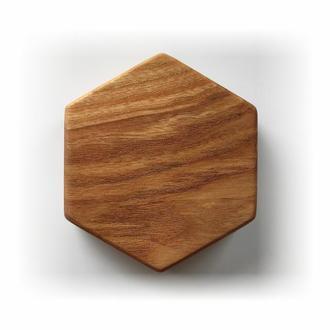 Магнітний тримач для ножів, шестикутник, 10 см, Ясен
