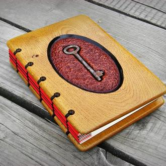 записная книга ручной работы из дерева (дуб)