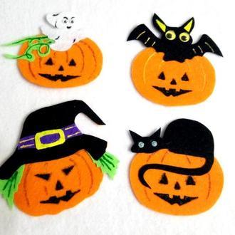 Нашивки тыква на хэллоуин