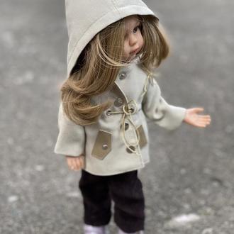 Плащ парка для куклы Паола Рейна 32 см, Курточка Паола Рейна, Одежда Paola Reina