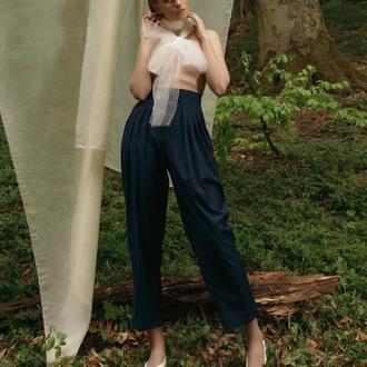 Темно-синие полосатые брюки IPANTS с 10 складками