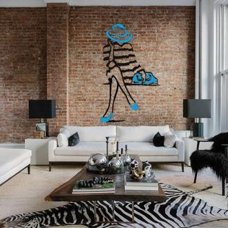 """Декоратвное панно на стену  """"Дама в шляпе"""""""