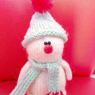 Новогодний снеговичок + носочки на елочку