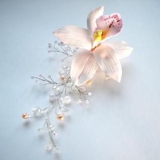 Украшение для  прически  Орхидея