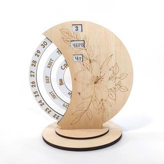 Вечный календарь настольный 19х12х21 Мастерская мистера Томаса Фанера 4 мм МДФ 3 мм