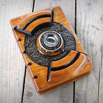 записная книга ручной работы из дерева (ясень)