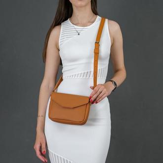 Кожаная женская сумочка Лилу, кожа Grand, цвет  янтарь